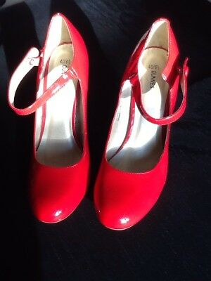 Ladies Red Shoes Size 6.5