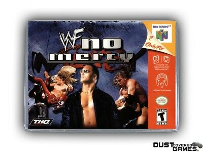 WWF No Mercy N64 Nintendo 64 Game Case Box Cover Brand New Professional Quality!