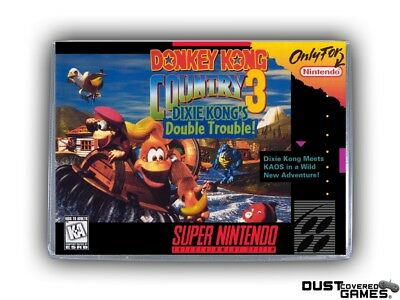 Donkey Kong Country 3: Dixie Kong's Double Trouble! SNES Super Nintendo Box New!