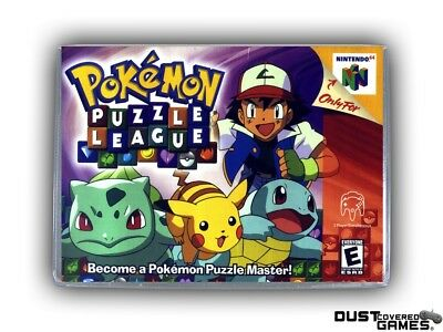 Pokemon Puzzle League N64 Nintendo 64 Game Case Box Cover Brand New Pro Quality!