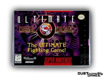 Ultimate Mortal Kombat 3 SNES Super Nintendo Game Case Box Cover Brand New Pro!!