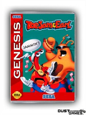 ToeJam & Earl GEN Genesis Game Case Box Cover Brand New Professional Quality!!!