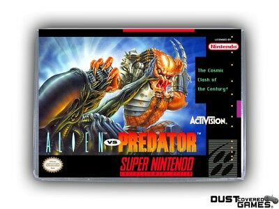 Alien vs. Predator SNES Super Nintendo Game Case Box Cover Brand New Pro Quality