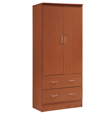BEDROOM ARMOIRE WARDROBE Closet Clothing Cabinet Storage Clothes Chest  Cherry