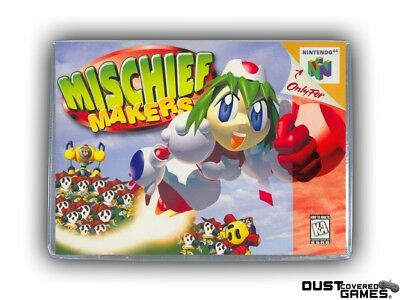 Mischief Makers N64 Nintendo 64 Game Case Box Cover Brand New Pro Quality!!!