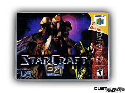 Starcraft 64 N64 Nintendo 64 Game Case Box Cover Brand New Professional Quality!