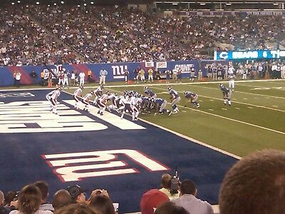 New York Giants vs Tennessee Titans lower-level , parking pass included