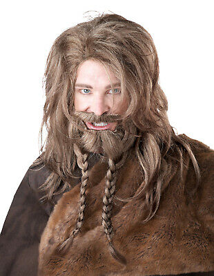Men's Norse Viking Wig Beard and Moustache
