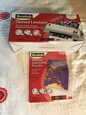"Scotch Thermal Laminator TL901  & 1 packs of  50 pouches 8.5"" x 11"""
