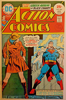 DC Comics Action Comics (Superman) #446 April 1975 VFN