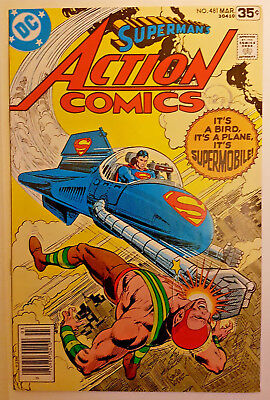 DC Comics Action Comics (Superman) #481 VFN+ March 1978 SuperMobile
