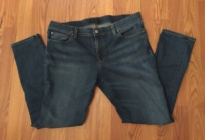 Ann Taylor Relaxed Skinny Slim Jeans Women's Size 12 Stretch EUC