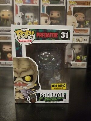 Funko Pop! Movies Predator Clear Bloody #31 Hot Topic Exclusive WITH PROTECTOR!