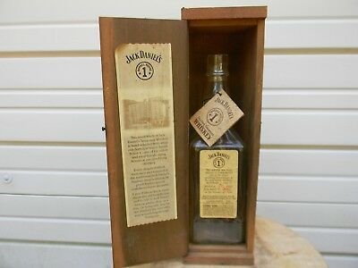 *Jack Daniels Barrel House 1 Limited Edition Whiskey Bottle and Wooden Box w/Tag