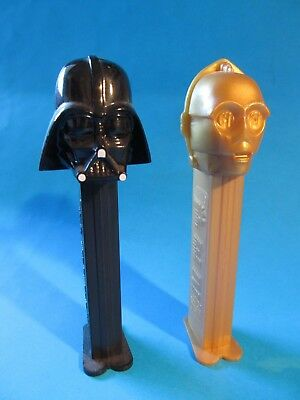 Star Wars Pez Dispensers C3-PO and Darth Vader