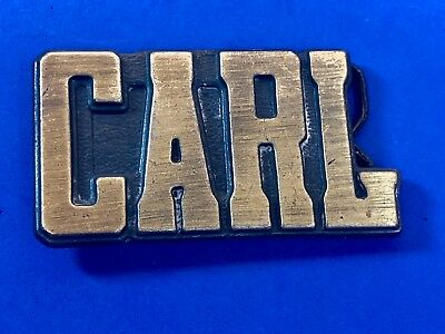 Vintage Solid Block Letters NAME Belt Buckle - CARL