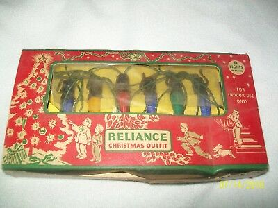 Vintage Reliance Christmas Lights C6 C-6 Mazda Westinghouse Bulbs Tested