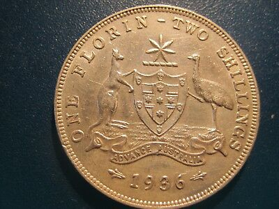 Beautifully cut 1936 Florin with 6 Pearls