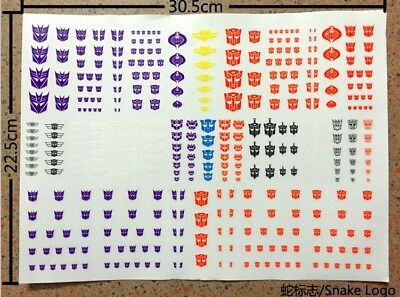 Snake Autobots Decepticon Decal Sticker FOR Transformers Optimus Prime Megatron