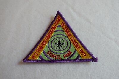 Scout Badge - Victorian Cuboree 1997, Gilwell Park, It's Time for Tomorrow Today