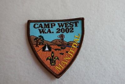 Scout Badge - Camp West W.A. 2002 Manjedal - LIKE NEW