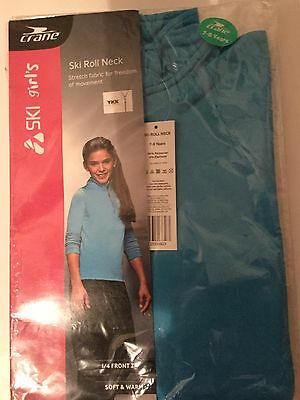 Girls Light Blue Ski Top with 1/4 Zip detail