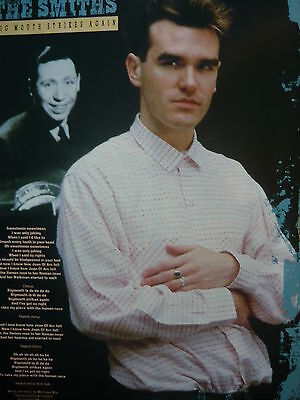 The Smiths - Magazine Cutting (Full Page Photo W/songwords) (Ref Jd2)