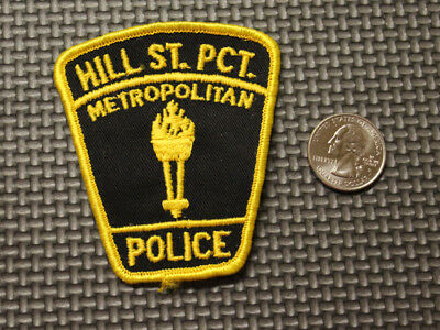 Hill St. Precinct Illinois IL Metro Police Department Patch