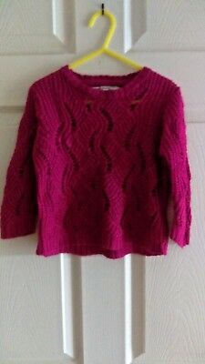 Young Dimension, Girls Pink Jumper. Age 2 - 3 Years
