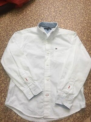Kids Tommy Hilfiger Classic White Oxford Shirt Size 8