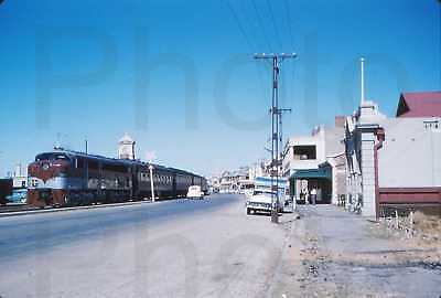 1 x 35mm Vintage Colour Slides Photo Port Pirie Train on Ellen Street c1960's