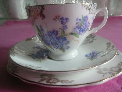 Forget Me Knot Bone China Trio
