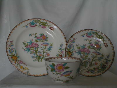 Wedgwood Cuckoo X7655 Antique Tea Cup Trio Saucer Plate Fine Bone China Shelley