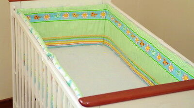 All round /all around Nursery bumper/ 420 cm long/ Padded 4 Sided / Cot /Bed