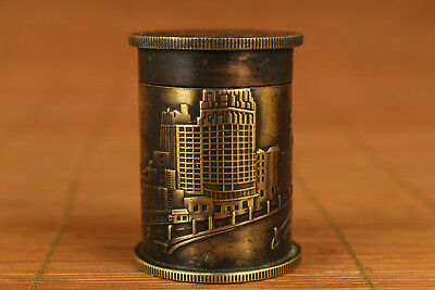 Big copper the Republic of China (1912-1949) Coins Statue Snuff Box ornament