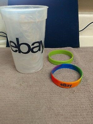 Ebay Plastic Cup And 2 Rubber Wrist Bands
