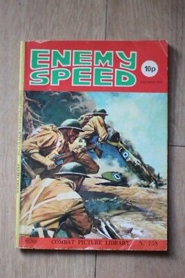 Vintage rare 'Combat Picture Library - Enemy Speed'