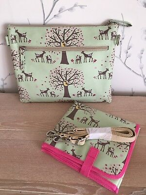 Pink Lining Mum On The Run Baby changing bag Woodland