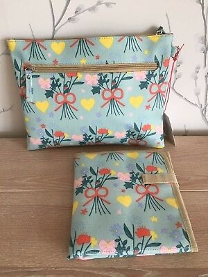 Pink Lining Mum On The Run Baby changing bag Blue Bouquet Flower