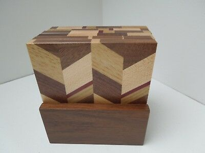 Wooden Squar Coasters - Set of 6 New
