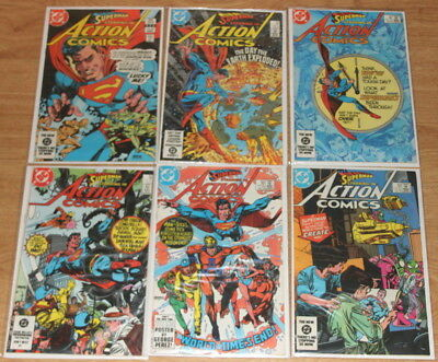 Action Comics 549-554 (6 Straight Issues), Superman, Curt Swan, Suicide Squad