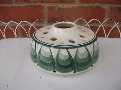 1960s Green & Cream Posy Retro Vase by Jersey Potteries - Mid Century  14 x 7cm