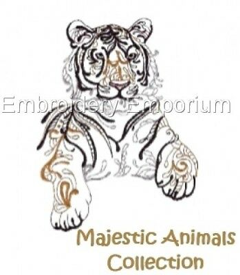 Majestic Animals Collection - Machine Embroidery Designs On Cd