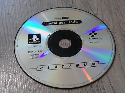 Metal Gear Solid Cd 2/2 Playstation 1 Ps1 Psone Ps2 Ps3 Cd2