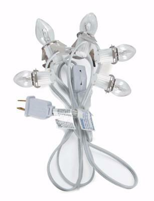 NEW 9 ft Christmas Village Replacement Light Cord with 5 Bulbs 6403