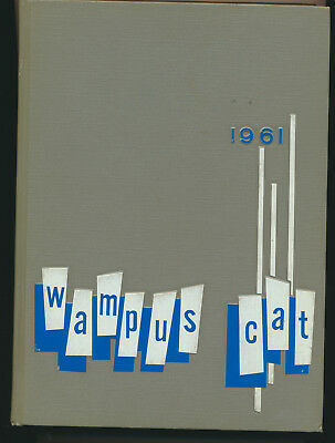 1961 Wampus Cat Conway Arkansas High School Yearbook Great Local Ads