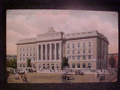 Youngstown OH, County courthouse, vintage postcard, FREE SHIP