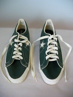 Men's Size 12, Converse One Star, Low-top sneakers. Olive green canvas. Like new