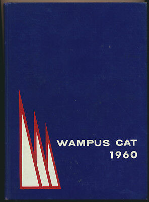 1960 Wampus Cat Conway Arkansas High School Yearbook Great Local Ads