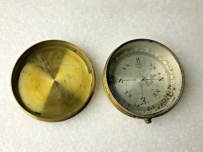 Vintage Welch Chicago Brass Compass Made in France Parts or Repair